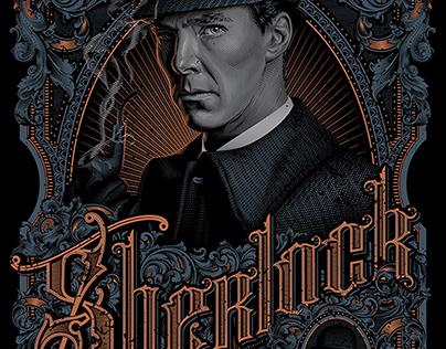 Poster Design Portrait Illustration Sherlock
