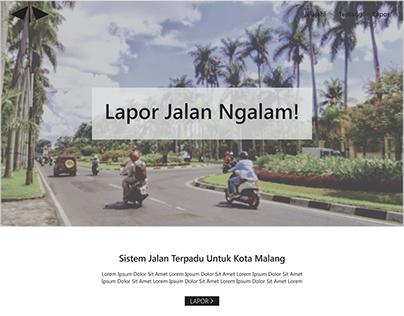 Lapor Jalan Ngalam with Fluent Design System