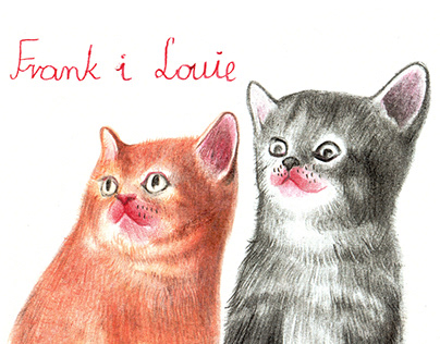 FRANK AND LOUIE / illustration book about cute kitties