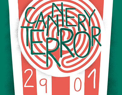 Cannery Terror Gig Poster X Maze Eclectic Circle