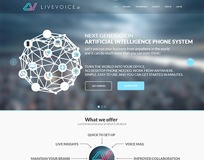 Livevoice.ai Landing Page