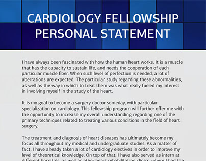 personal statements cardiology fellowship Personal statement for cardiology fellowship cardiology fellowship personal statement: help write my college or high school nursing paper.