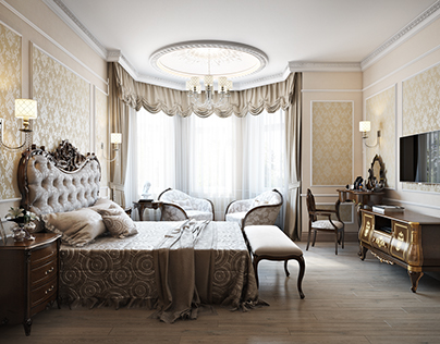 Bedroom 3d visualisation for Raleigh project