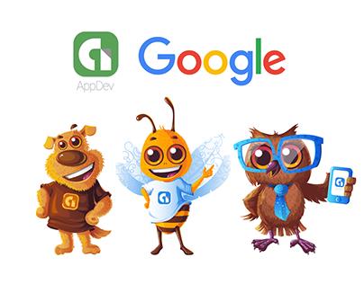 "Mascot Designs For Google ""AppDev"" Team | F1 Digitals"