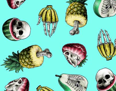 Fruit-bone pattern