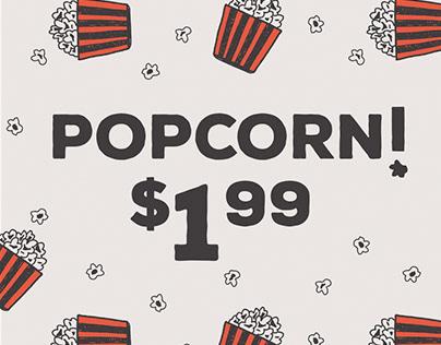 Popcorn Sign
