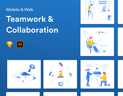 Teamwork & Collaboration Illustrations