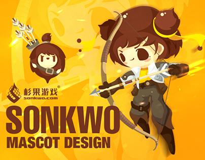 SONKWO Mascot Design Cartoon Character