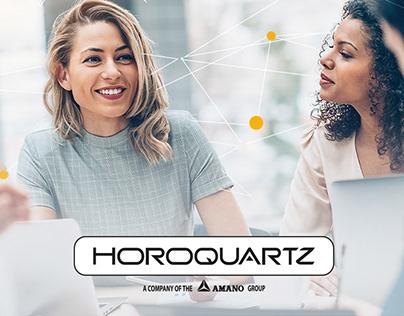 Webdesign of Horoquartz website and the branding