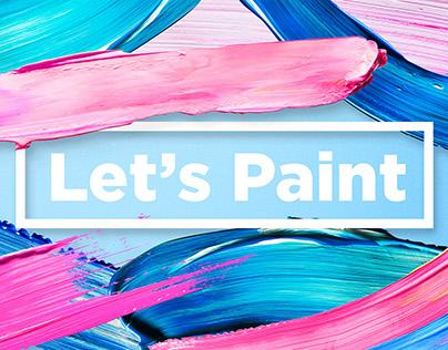 Let's Paint! Color Paint Strokes
