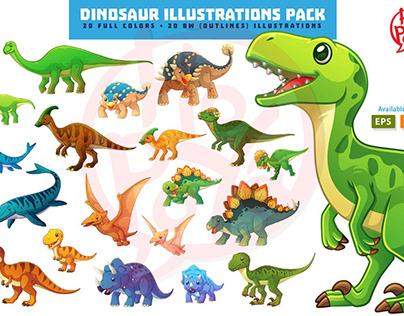 Dinosaur Illustrations Pack