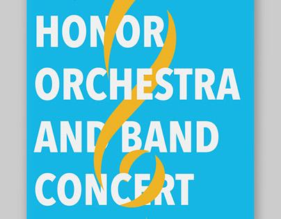 Honor Concert Poster Design