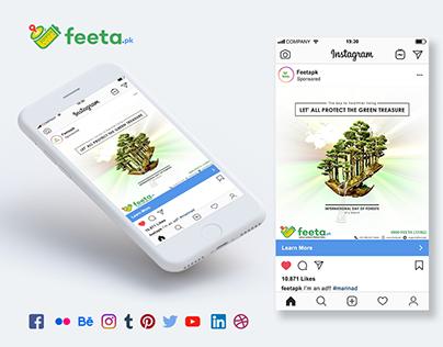 #Feetapk Social Media Post Design