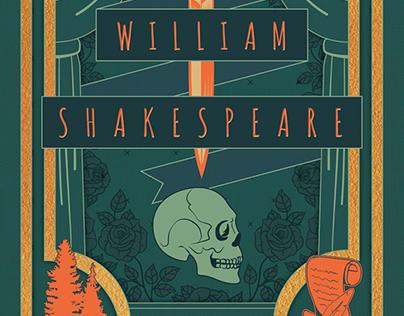 William Shakespeare-Themed Stationery Set Cover Design