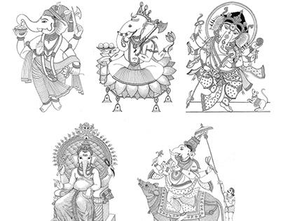 GANESHA AN ELEPHANT GOD (Personal project)