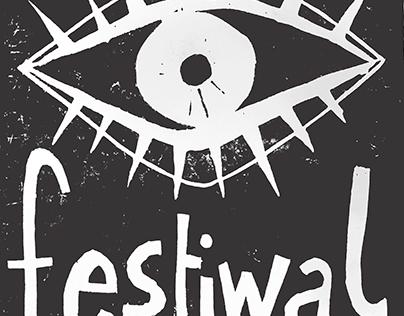linocut for A3Teart & Wertep Festiwal