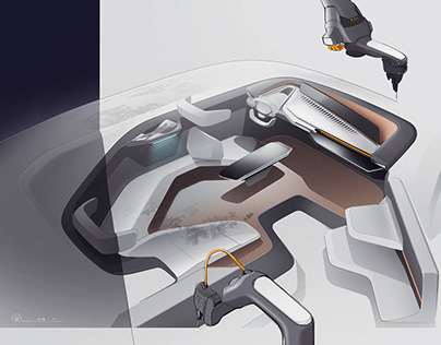 Electrical SUV Interior Ideation