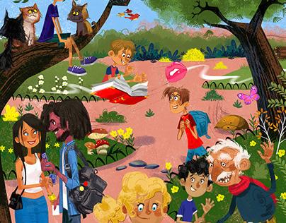 Ardillas Libro de cuentos infantiles