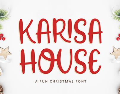 Karisa House - A Fun Christmas Font