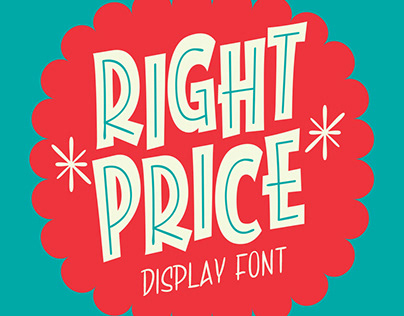 RIGHT PRICE Font