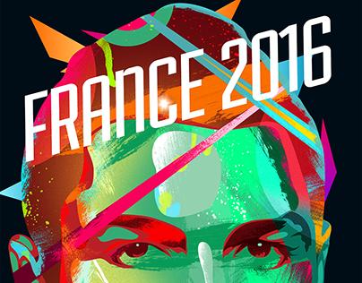 Ronaldo France Euro 2016 Poster