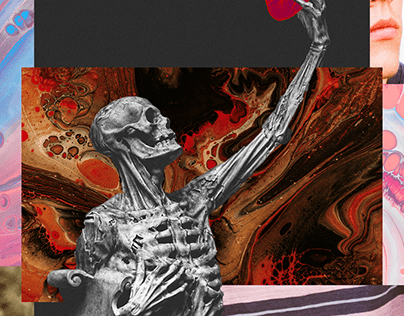 Seven Day Collage Challenge: Mortality