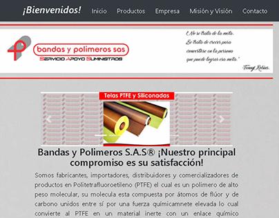 Diseño web Bandas y Polimeros S.A.S.