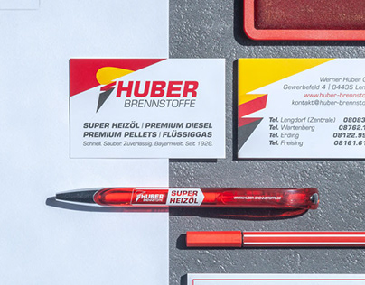 Huber Brennstoffe - Corporate Design Print
