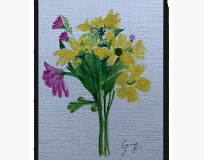 Flower bunch - acrylic painting