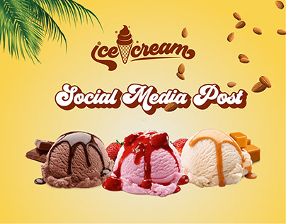Ice-Cream Social Media Post Design