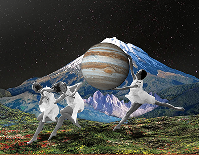 Collage - Girls and the Universe