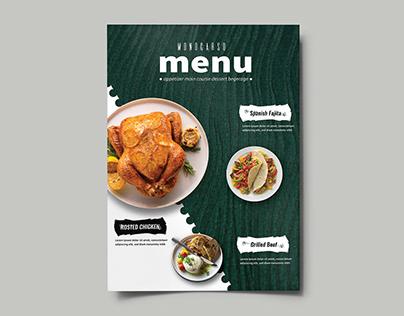 Restaurant Menu Book
