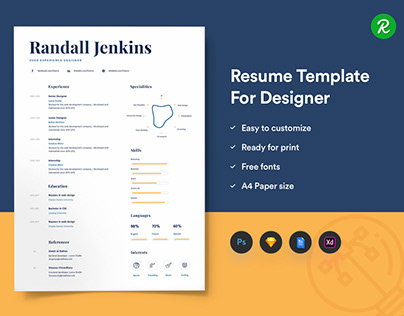 Sample Resume Template From GetResume On Behance