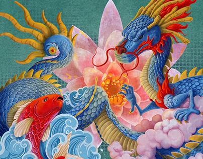 Koi & Dragon