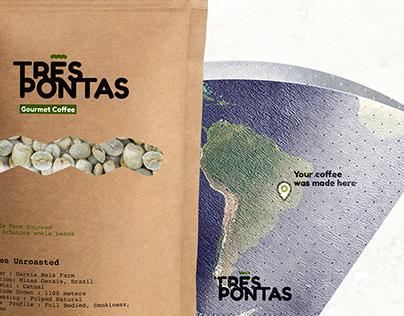 Très Pontas Coffee - Brand Identity & Packaging