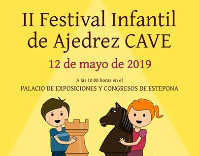Cartel II Festival Infantil de Ajedrez CAVE