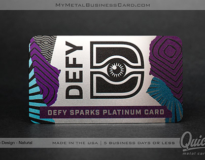 Quick Metal Business Card - Ready in 24 Hrs!