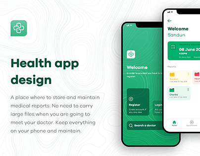 Health record mobile app
