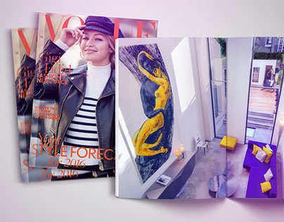MY ART WORKS IN VOGUE AND THE DAILY TELEGRAPH