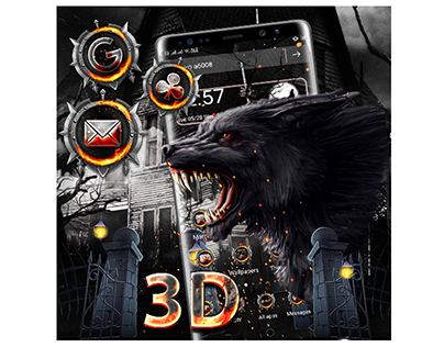 3D Wolf Theme Design