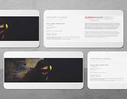 Postcard and E-mail Designs for Performistanbul, 2017