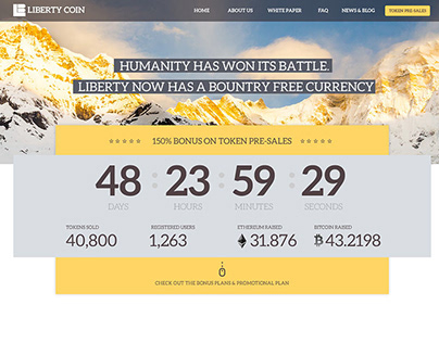 Liberty Coin – HYIP Template