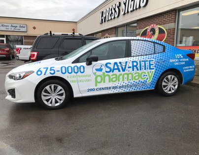 Sav-Rite Pharmacy Vehicle Wrap