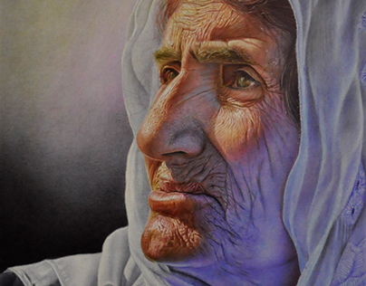 Palestine Mother With color pens