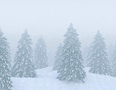 3D // Forester Snow Scene