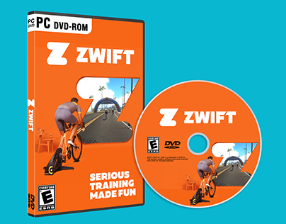 Zwift Concept PC Game Package Design
