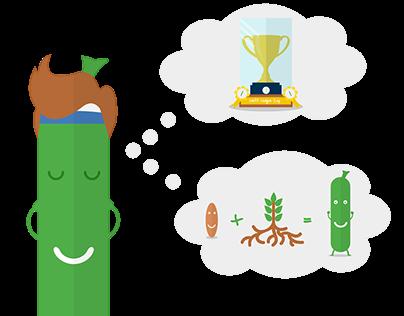 Bean character illustrations
