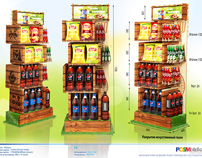 Display for Chips&Beverages Picnic
