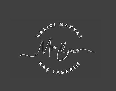 Mrs.Brows Kaş Tasarım Logo Çalışması