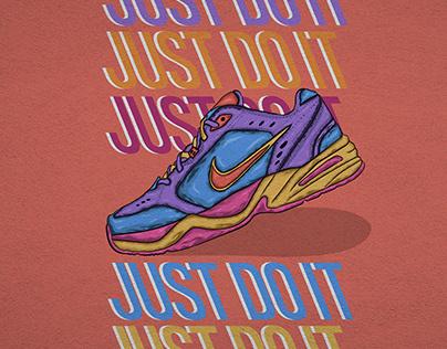 Nike shoes illustration
